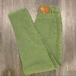 Green Vintage Jeans Straight Leg High Waisted Liz